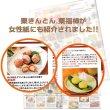 画像7: 栗菓子とお茶の風呂敷セット 栗福柿・焼き栗きんとん 白川茶入 送料込み (7)